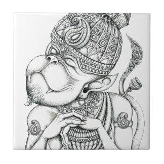 Hanuman, dios del mono teja cerámica