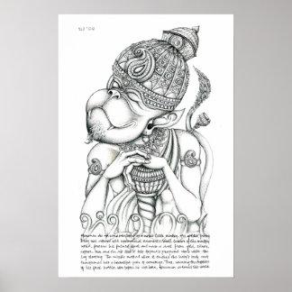 Hanuman, dios del mono póster