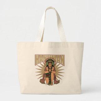 Hanuman hindú bolsa de tela grande