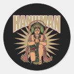 Hanuman hindú pegatinas redondas
