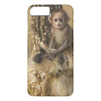 Hanuman Langur adult with young iPhone 7 Plus Case