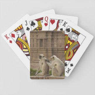 Hanuman Langurs or Black-faced, Common or Grey Poker Deck