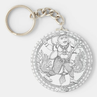 Hanuman Monkey God Basic Round Button Keychain