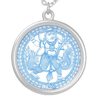 Hanuman Monkey God Round Pendant Necklace