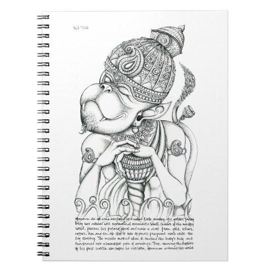 Hanuman, Monkey God Spiral Notebook