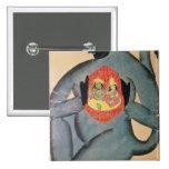 Hanuman que revela Rama y Sita Pin Cuadrado
