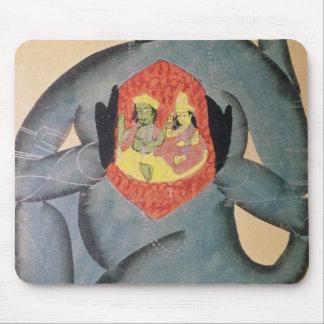 Hanuman revealing Rama and Sita Mouse Pad