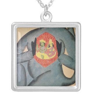 Hanuman revealing Rama and Sita Necklaces