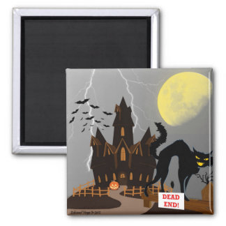 Hanuted Halloween House Magnet