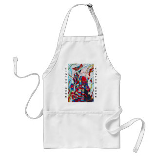 Hao Ping Crane Dance abstract lady painting Adult Apron