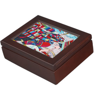 Hao Ping Crane Dance abstract lady painting art Memory Box