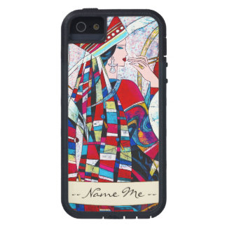 Hao Ping Crane Dance abstract lady painting iPhone SE/5/5s Case