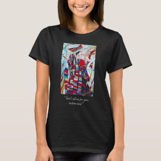 Hao Ping Crane Dance abstract lady painting T-Shirt