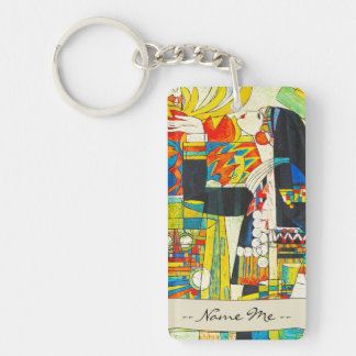 Hao Ping Memorial Ceremony Of Water Dragon Double-Sided Rectangular Acrylic Keychain