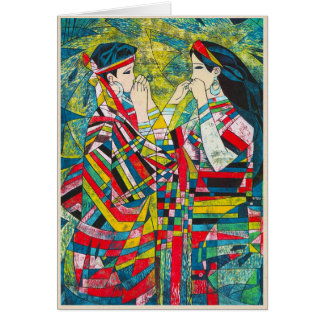 Hao Ping Silent Night Sound to Convey two ladies Card