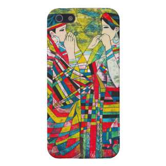 Hao Ping Silent Night Sound to Convey two ladies Case For iPhone 5