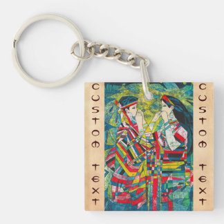 Hao Ping Silent Night Sound to Convey two ladies Keychain