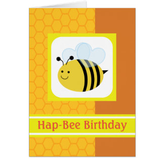 Cute bumble bees greeting cards zazzle hap bee birthday bumblebee honeycomb card m4hsunfo