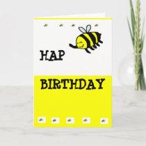 "HAP ""BEE"" Birthday Card"