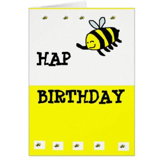 "HAP ""BEE"" Birthday Greeting Cards"