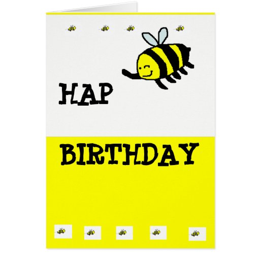 "HAP ""BEE"" Birthday Greeting Cards"