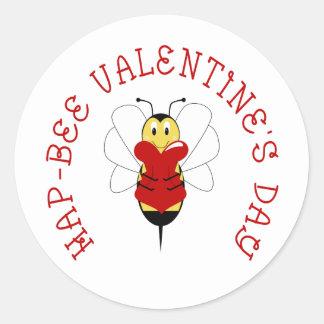 Hap-bee Valentine s Day Sticker