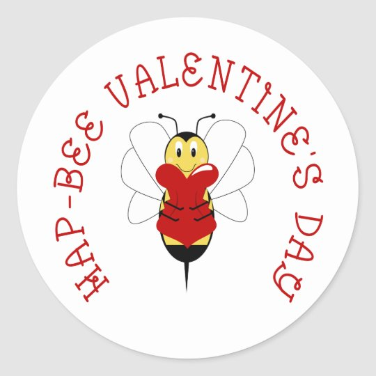 Hap-bee Valentine's Day Sticker