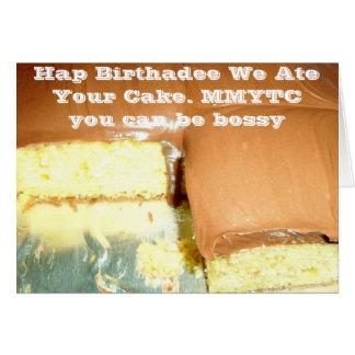 Hap Birthadee Card