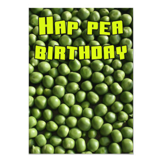 Hap Pea Birthday 5x7 Paper Invitation Card