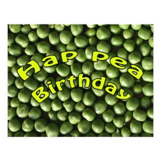 """Hap Pea Birthday 8.5"""" X 11"""" Flyer"""