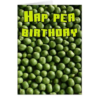 Hap Pea Birthday Card