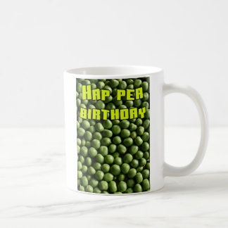 Hap Pea Birthday Classic White Coffee Mug