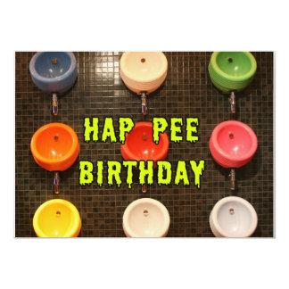 Hap Pee Birthday Card