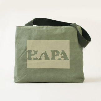 Hapa Green Canvas Bag