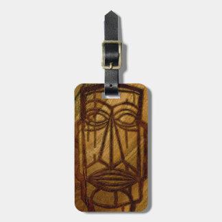 Hapalua Tiki Hawaiian Faux Koa Wood Luggage Tags