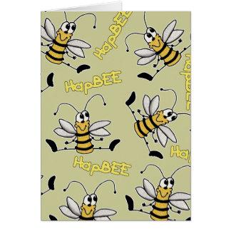 HapBEE Bee Collage Birthday Card