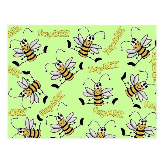 HapBEE Bee Collage Birthday Postcard