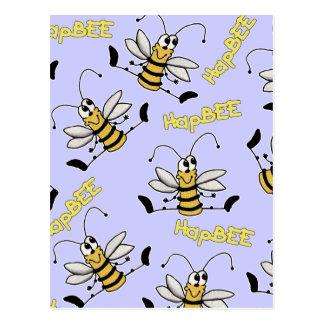 HapBEE Bee Collage Postcards