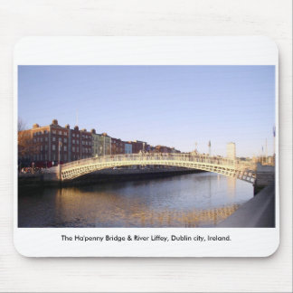 Ha'penny Bridge Dublin City Ireland Mousepads