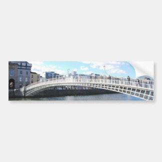 Ha'penny Bridge - Dublin Ireland on The Liffey Car Bumper Sticker