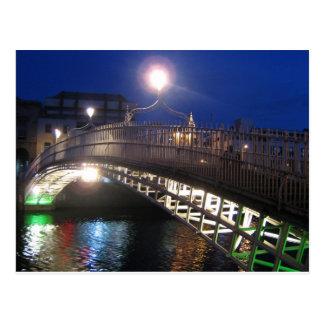 Ha'penny Bridge, Dublin Postcard