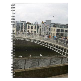 Hapenny Bridge Dublin Spiral Note Book