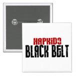 Hapkido Black Belt Pinback Buttons