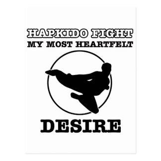 Hapkido design postcard