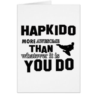 Hapkido is awesome card