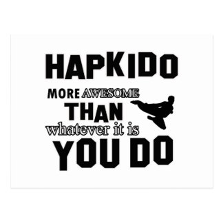 Hapkido is awesome postcard