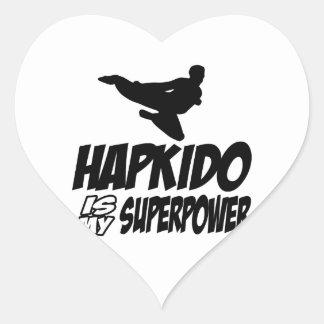 hapkido is my superpower heart sticker