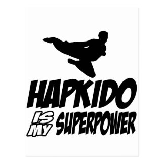 hapkido is my superpower postcard