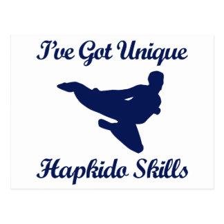 hapkido martial art designs postcard