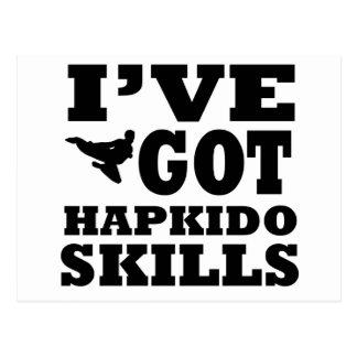 Hapkido Martial Arts designs Postcard